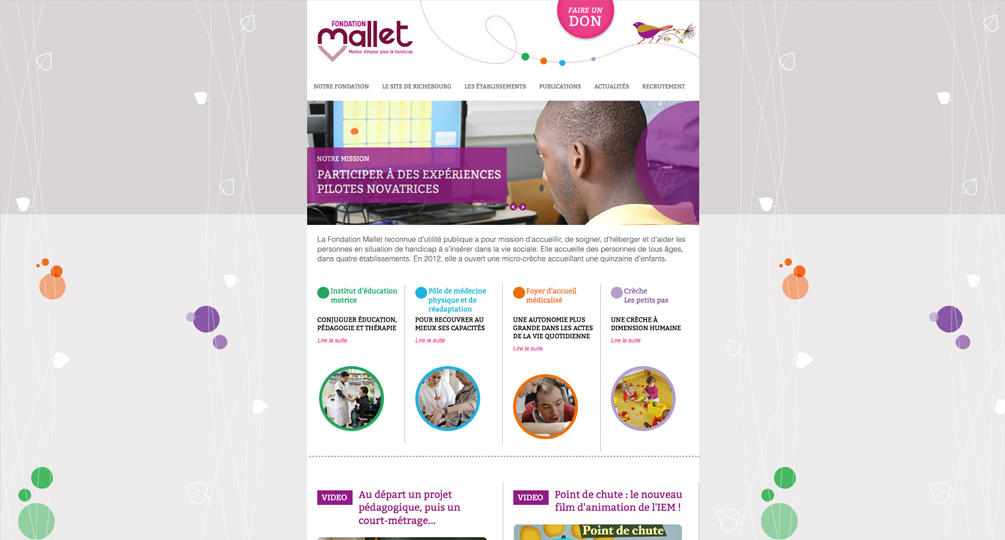 Fondation Mallet Site internet - 2016