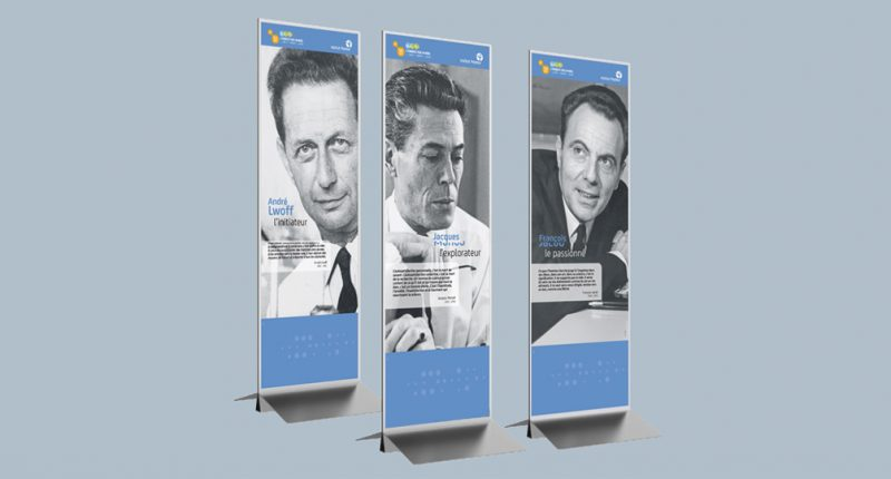 Marketing opérationnel - Institut Pasteur - Exposition « 3 pionniers pour un Nobel » 2016