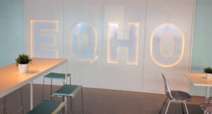 Lettres lumineuses pour Eqho